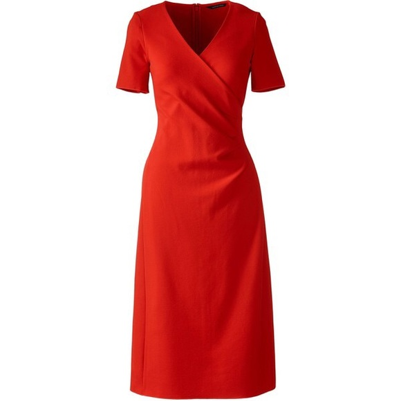 Buy Cheap Popular Womens Sleeveless Ponte Jersey Dress - 10 -12 - Orange Lands End Buy Cheap Cheapest Excellent Sale Release Dates Cheap Best Store To Get 8xT07jr2b